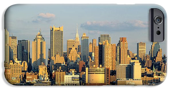 Finance iPhone Cases - Hudson River, City Skyline, Nyc, New iPhone Case by Panoramic Images