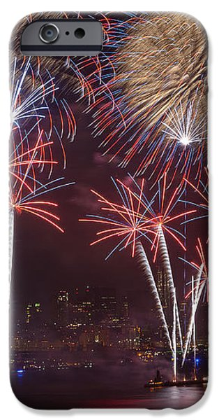 Hudson River Fireworks VIII iPhone Case by Clarence Holmes