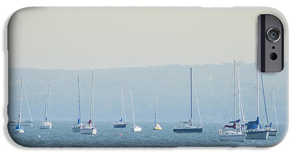 Hudson River iPhone Cases - Hudson River Sailboats - Nyack New York iPhone Case by Bill Cannon