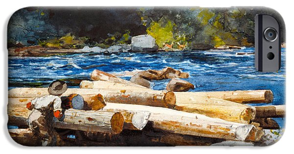 Hudson River Digital iPhone Cases - Hudson River iPhone Case by Winslow Homer