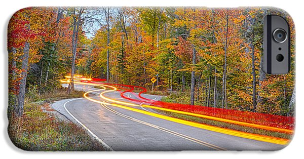 Country Road iPhone Cases - Hugging the Curves iPhone Case by Adam Romanowicz
