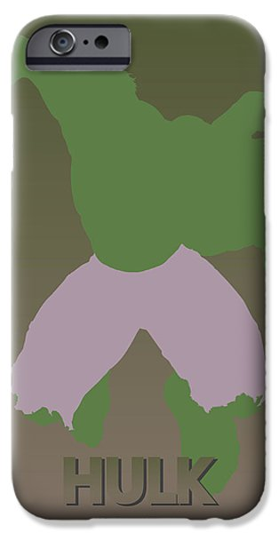 Recently Sold -  - Power iPhone Cases - Hulk iPhone Case by Joe Hamilton