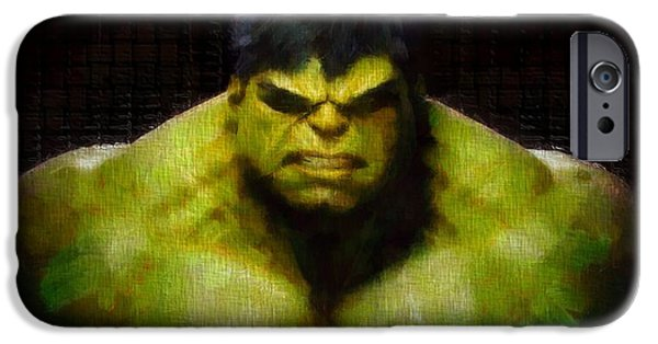 Fictional iPhone Cases - Hulk Smash iPhone Case by Dan Sproul