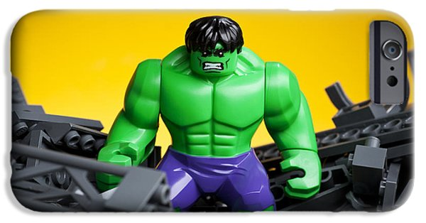 Figures iPhone Cases - Hulk Smash iPhone Case by Samuel Whitton