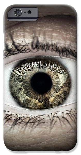 Human eye macro iPhone Case by Elena Elisseeva