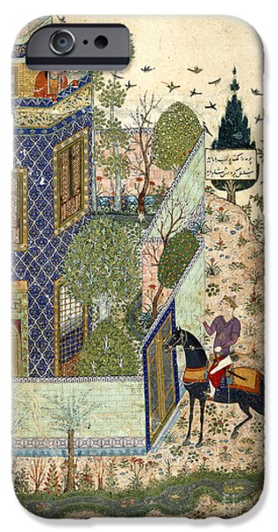 Iraq iPhone Cases - Humay At The Gate To The Castle iPhone Case by British Library