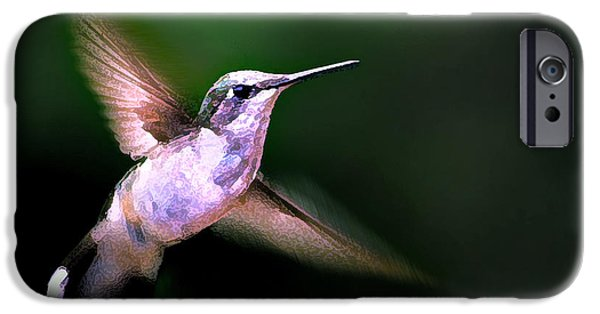 Animals Photographs iPhone Cases - Hummer Ballet 1 iPhone Case by Bill Caldwell -        ABeautifulSky Photography