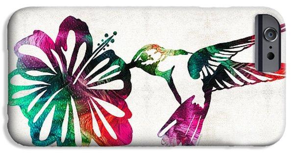 Nectar iPhone Cases - Hummingbird Art - Tropical Chorus - By Sharon Cummings iPhone Case by Sharon Cummings