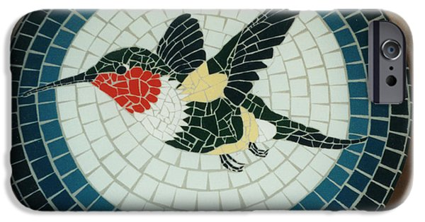 Birds Ceramics iPhone Cases - Hummingbird iPhone Case by Pj Flagg Tongue in Chic