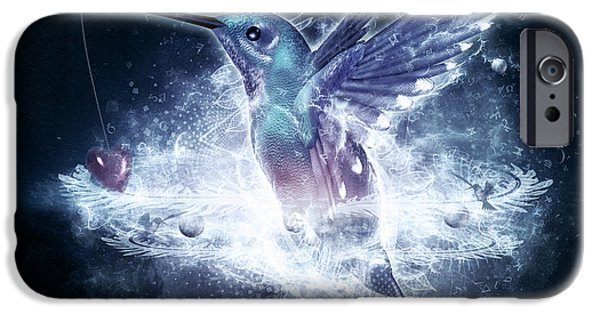 Recently Sold -  - Birds iPhone Cases - Hummingbird Print iPhone Case by Cameron Gray