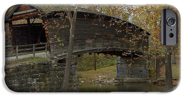 Covered Bridge iPhone Cases - Humpback Bridge Right Side View iPhone Case by Jennifer Lamanca Kaufman