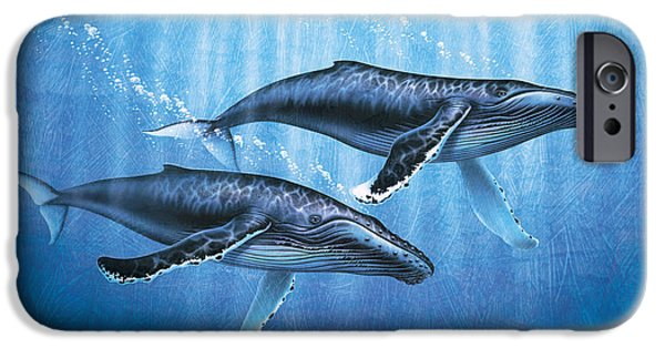 Ocean Mammals iPhone Cases - Humpback Whales iPhone Case by JQ Licensing