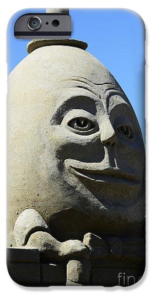 Sand Castles Photographs iPhone Cases - Humpty Dumpty Sand Sculpture iPhone Case by Bob Christopher