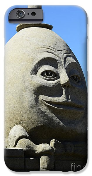 Humpty Dumpty Sand Sculpture iPhone Case by Bob Christopher