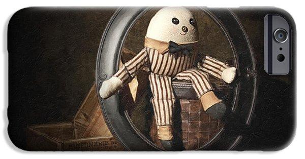 Nursery Rhyme iPhone Cases - Humpty Dumpty iPhone Case by Tom Mc Nemar