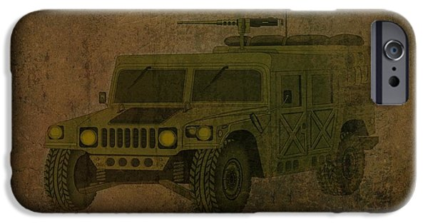 Business Drawings iPhone Cases - Humvee Midnight Desert  iPhone Case by Movie Poster Prints