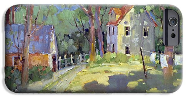 Recently Sold -  - Shed iPhone Cases - Hung Out to Dry iPhone Case by Joyce Hicks