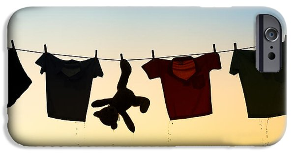 Innocence Photographs iPhone Cases - Hung Out To Dry iPhone Case by Tim Gainey