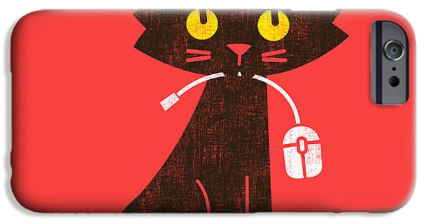 Budi Satria Kwan iPhone Cases - Hungry hungry cat iPhone Case by Budi Kwan