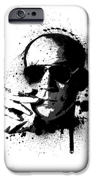 Hunter S. Thompson iPhone Case by Laurence Adamson
