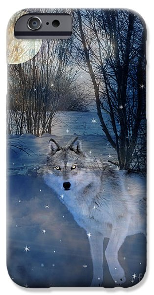 Judy Wood Digital Art iPhone Cases - Hunters Moon iPhone Case by Judy Wood