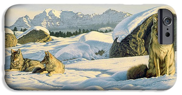 Coyote iPhone Cases - Hunters Rest iPhone Case by Paul Krapf