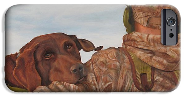 Chocolate Lab iPhone Cases - Hunting Boyfriend iPhone Case by Tammy  Taylor