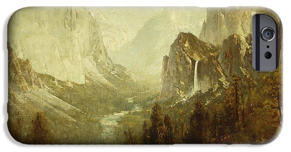 River View iPhone Cases - Hunting In Yosemite iPhone Case by Thomas Hill