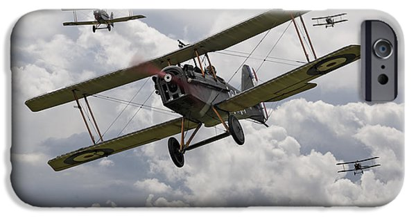 Fokker D V11 iPhone Cases - Hunting Pack iPhone Case by Pat Speirs