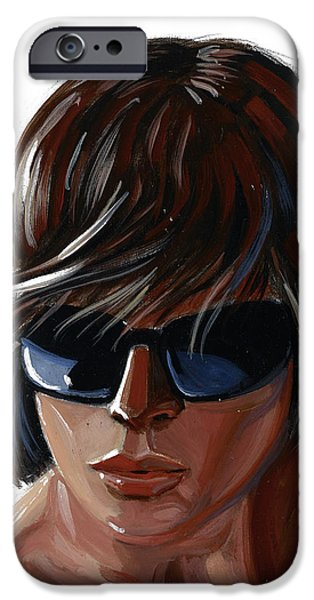 Malibu Paintings iPhone Cases - Huntington Beach Rat iPhone Case by MJ Greene
