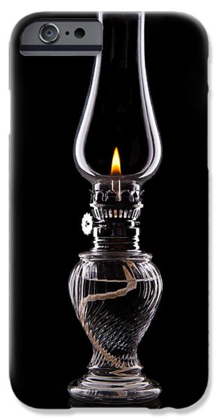 Hurricane Lamp iPhone Cases - Hurricane Lamp Still Life iPhone Case by Tom Mc Nemar