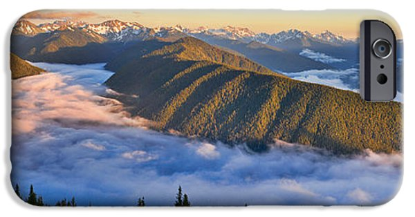 Pm iPhone Cases - Hurricane Ridge Sunset iPhone Case by Don Hall