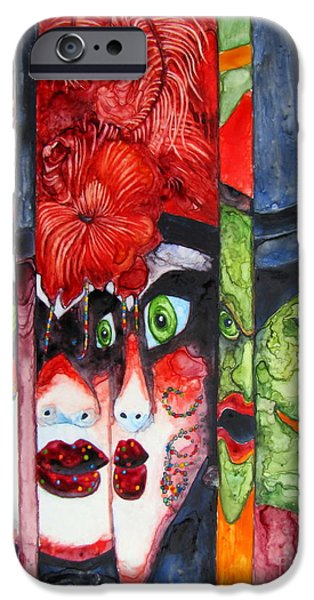 Recently Sold -  - Lips iPhone Cases - HURRY Kiss Me Before Midnight iPhone Case by Pamela Iris Harden