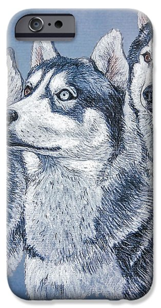 Huskies by J. Belter Garfunkel iPhone Case by Sheldon Kralstein