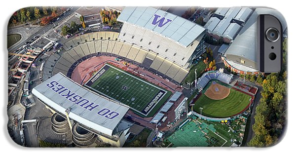 Huskies Photographs iPhone Cases - Husky Stadium iPhone Case by Nomad Art And  Design