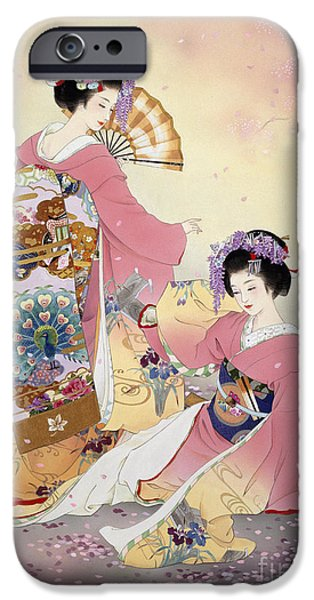 Theatrical iPhone Cases - Hutari Mai iPhone Case by Haruyo Morita