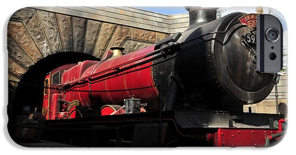 Hogwarts iPhone Cases - Hogwarts Express Train work A iPhone Case by David Lee Thompson