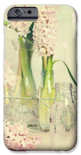 Basket iPhone Cases - Hyacinth Arrangement iPhone Case by Amanda And Christopher Elwell