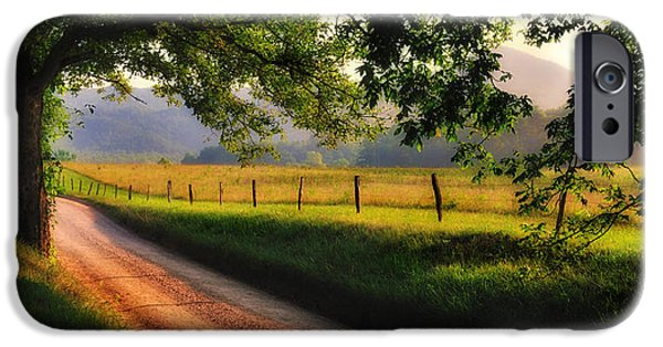 Scenic Drive iPhone Cases - Hyatt Lane - Cades Cove iPhone Case by Thomas Schoeller