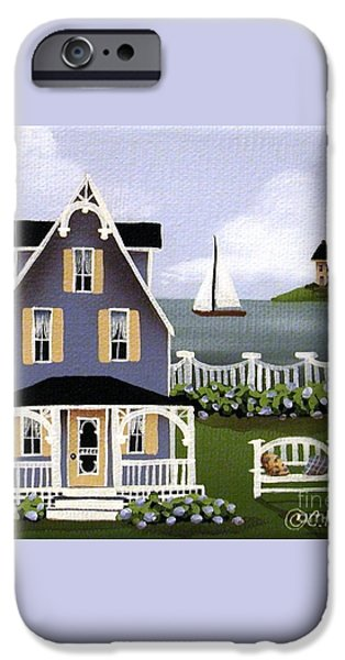 Hydrangea Cove iPhone Case by Catherine Holman