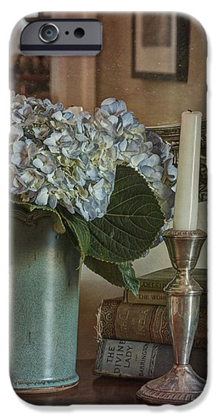 Hydrangea Still-Life iPhone Case by Terry Rowe