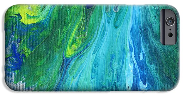 Merging Paintings iPhone Cases - Hyper Dimensional Rift iPhone Case by Maxwell Hanson