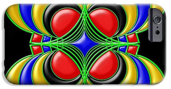 Flower iPhone Cases - Hypnotic iPhone Case by Anastasiya Malakhova