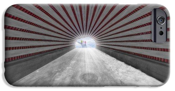 Snow iPhone Cases - Hypnotic Playmates Arch iPhone Case by Susan Candelario