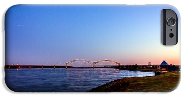 Beauty Mark iPhone Cases - I-40 Bridge Across the Mighty Mississippi - Memphis - TN iPhone Case by Barry Jones