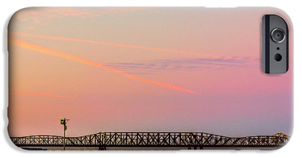 Beauty Mark iPhone Cases - I-55 Bridge Over the Mississippi River - Memphis - TN iPhone Case by Barry Jones