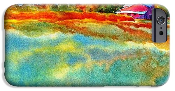 Mood Paintings iPhone Cases - I Aint Workin On Maggies Farm No More iPhone Case by Virgil Carter