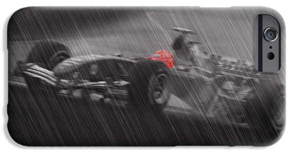 Michael Schumacher iPhone Cases - I Always Thought records were meant to be broken iPhone Case by Stephane Trahan
