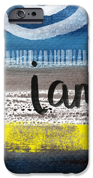 Abstracted iPhone Cases - I Am- abstract painting iPhone Case by Linda Woods
