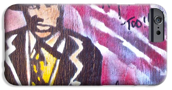 First Amendment Paintings iPhone Cases - I Am America Too iPhone Case by Tony B Conscious